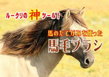 【最高!】『ルークリ』の神ツール!馬のたてがみを使ったブラシ!